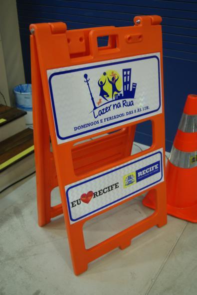 Cavalete que é utilizado no projeto Lazer na Rua. Crédito: Laís Siqueira / DP / D.A Press