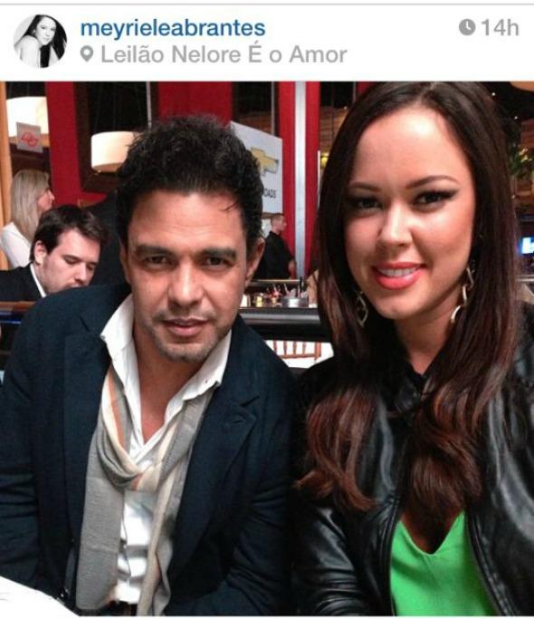 Zezé di Camargo e Meyrielle Abrantes Crédito: Reprodução/Instagram