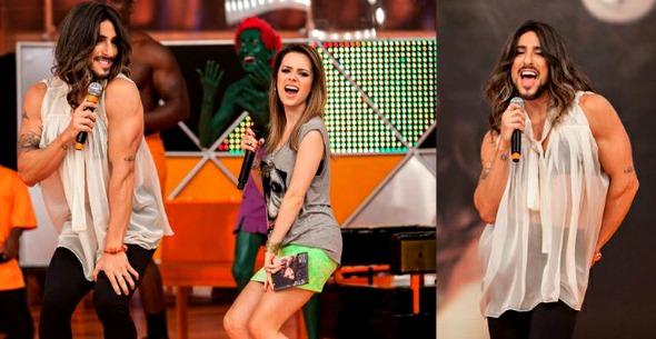 Sandy vira apresentadora por um dia do Legendários e Mion faz uma paródia da cantora - Crédito: Record/Divulgação