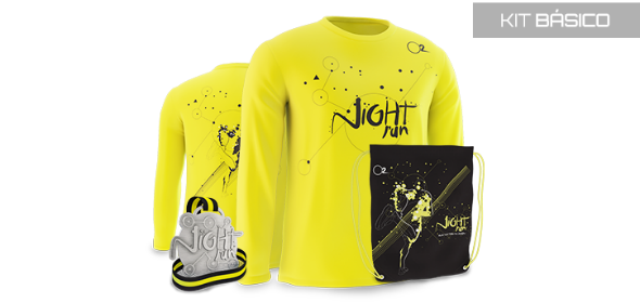 Kit básico da Night Run Crédito: Divulgação/Night Run