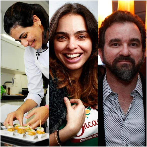 Juliana Coelho de Andrade, a jornalista de gastronomia Vanessa Lins e Nicola Sultannum (Mingus)  - Crédito: Divulgação