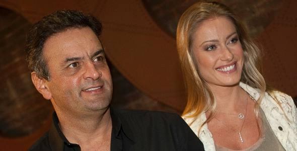 Aécio Neves e Letícia Weber/Divulgação