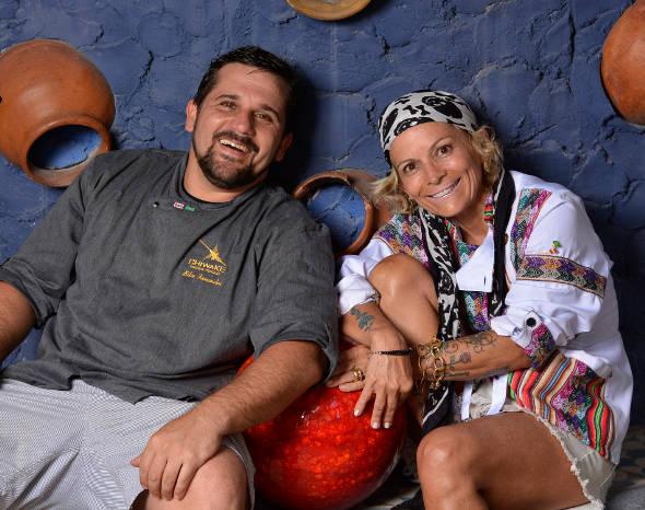 Os chefs Biba Fernandes e Simone Bert - Crédito: Dibulgação