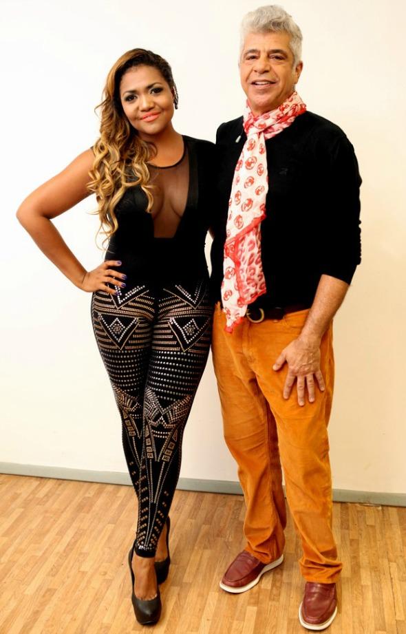Gaby Amarantos e Lulu Santos - Crédito: Isabella Pinheiro/TV Globo