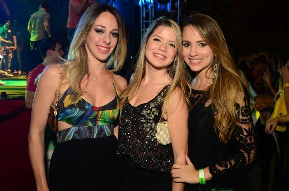 Anna Sarah, Mariana Ferreira e Luiza Diniz - ,Crédito: Danilo Sá/GO Imagens