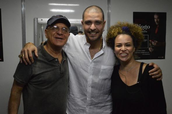 Diogo Nogueira, Wellington Lima e Ticiana Pacheco. Crédito: Felipe Souto Maior / Divulgação