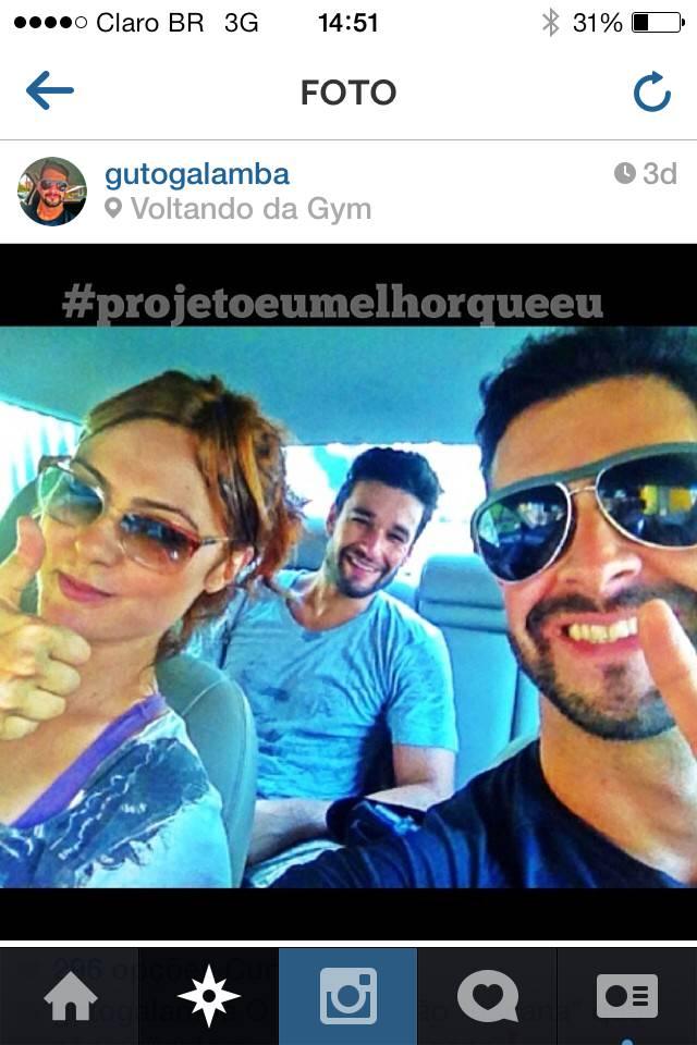 Bianca Joy, Sérgio Maorne e Gustavo Galamba. Crédito: Reprodução Instagram