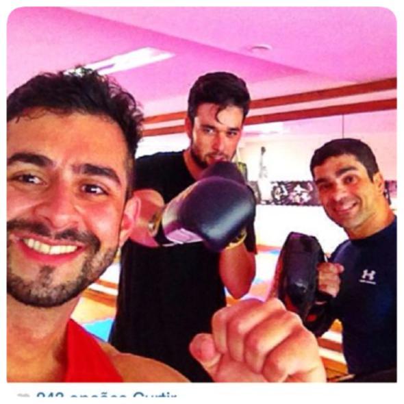 Da esquerda para direita, Gustavo Galamba, Sérgio Marone e Gustavo Bandeira na Club 17. Crédito: Reprodução Instagram