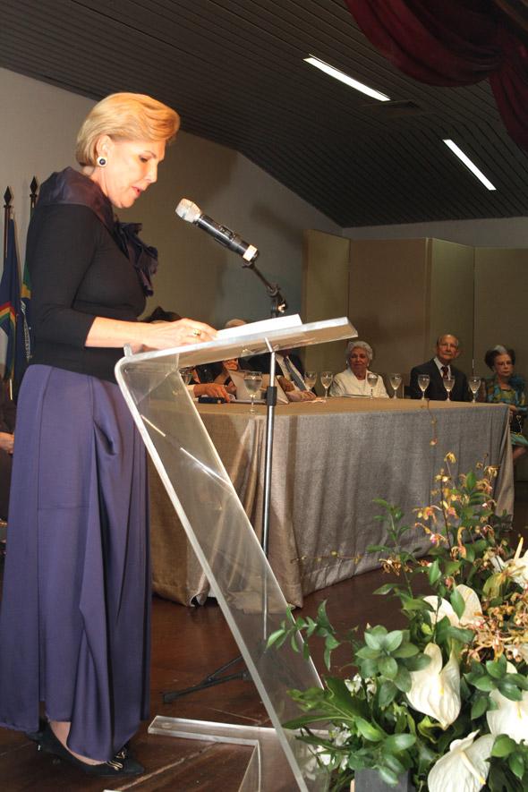 Maria Lectícia discursa Crédito:Nando Chiappetta/DP/D.A Press