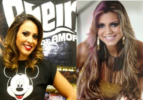 Alinne Rosa deixa o Cheiro de Amor e Vina Calmon assume os vocais da banda Crédito: Aryella Lira/Divulgação e Facebook/Vina Calmon