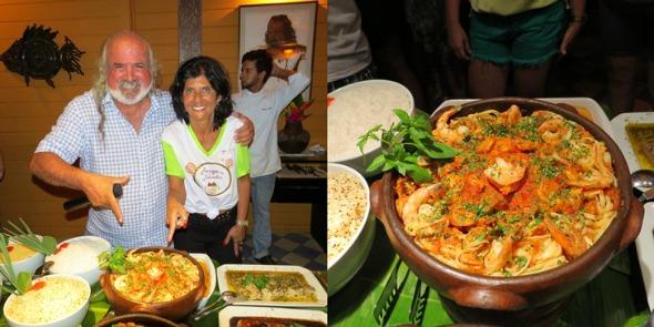 Lucia Gagliasso aceitou desafio do pousadeiro Zé Maria e preparou um prato para o Festival Gastronômico que acontece na pousada - Crédito: Ana Clara Marinho/Divulgação