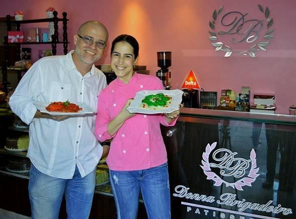 Duca Lapenda e Paula Veloso criam novidades para o novo cardápio da Donna Brigadeiro - Crédito: Donna Brigadeiro/Divulgação