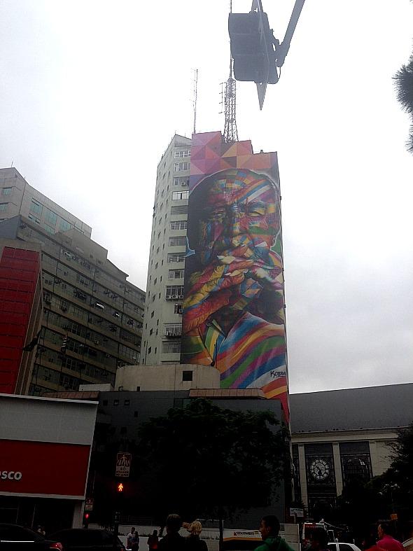 Oscar Niemeyer graditado na Avenida Paulista - Crédito: Cecílai Ramos/DP DA Press