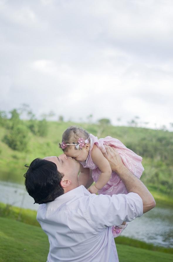 Carolina e o pai, Natanael - Crédito: Gabriela Barros/Divulgação