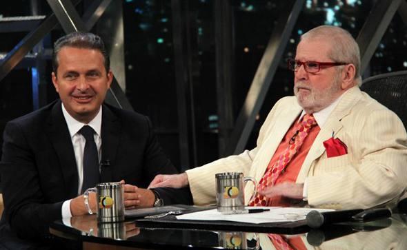 Eduardo Campos e Jô Soares/TV Globo/Diulgação