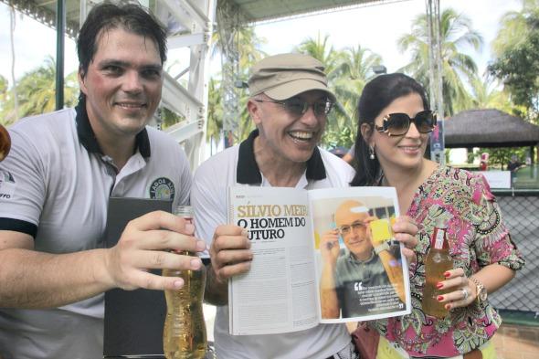 Sergio Cavalcanti, Silvio Meira e Carla Bensoussan -  Foto: Divulgacao/FotoMoksha.com