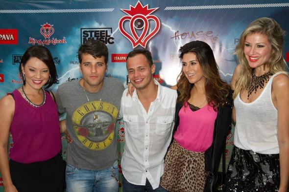 Geovanna Tominaga, Bruno Gagliasso, Fabinho Cal, Fernanda Paes Leme e Ellen Jabour