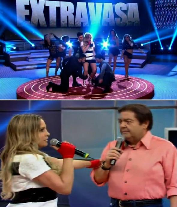 Clara Sobral participou do quadro Os Imitadores, do Domingão do Faustão - Crédito: Reprodução/TV Globo