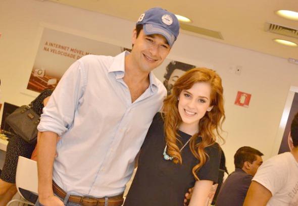 Sergio Marone e Sophia Abrahão em lançamento no Shopping Recife - Crédito: Felipe Souto Maior/Divulgação