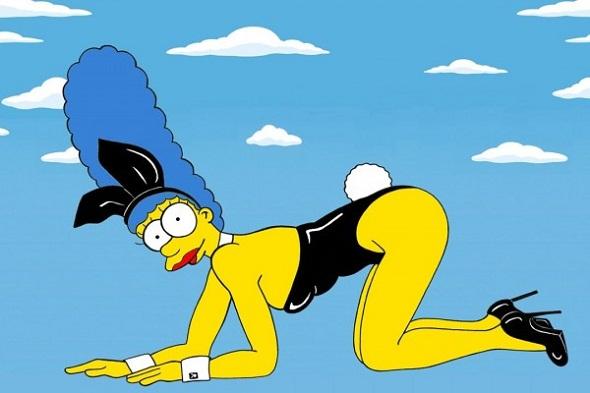 Marge Simpson de Kate Moss para Playboy - Crédito: