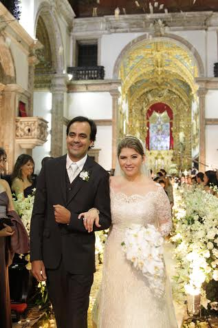 Rafael Accioly e Dedeka Queiroz Galvão trocaram o sim, na noite de hoje. Crédito: Bruna Monteiro DP/D.A Press.