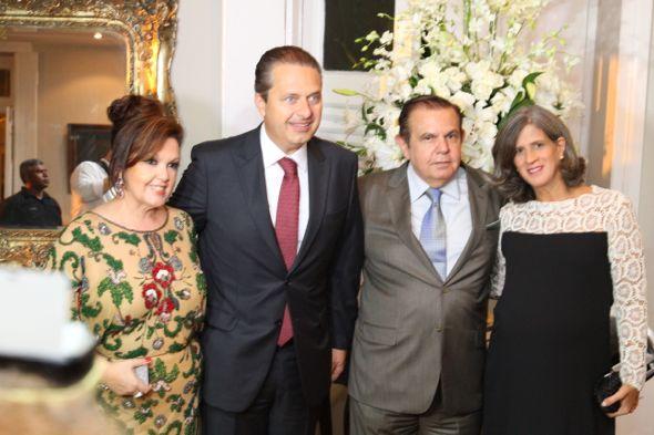 Sheyla Wanderley, Eduardo Campos, João Alberto e Renata Campos. Crédito: Paulo Paiva / DP / D.A Press