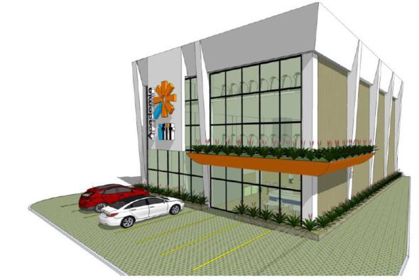 Projeção da academia que vai funcionar na Avenida Visconde de Jequitinhonha. Crédito: Ifit / Divulgação