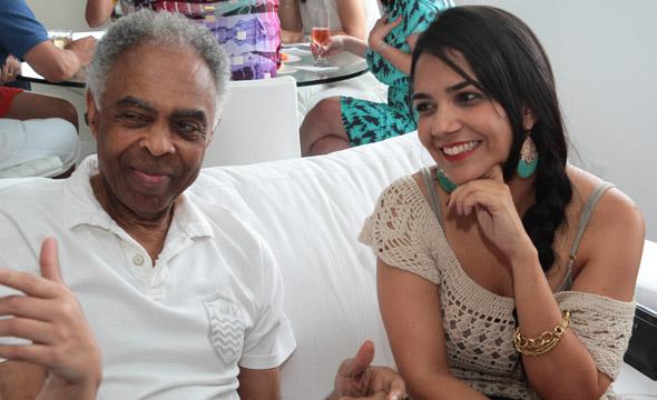 Gilberto Gil e Mônica Lavareda Crédito:Nando Chiappetta/DP/D.A Press