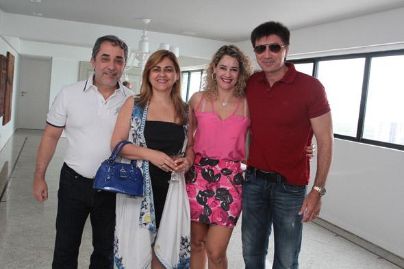 Guilherme Machado, Gláucia, Sandra e Janguiê Diniz Crédito:Nando Chiappetta/DP/D.A Press