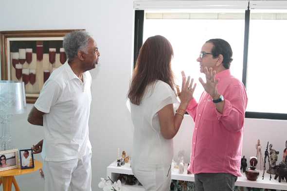 Gilberto e Flora conversam com Lavareda Crédito:Nando Chiappetta/DP/D.A Press