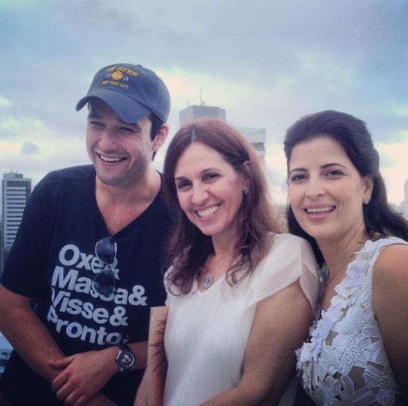 Sérgio Marone, Flora Gil e Carla Bensoussan.Crédito: Thiago Falcão/Cortesia