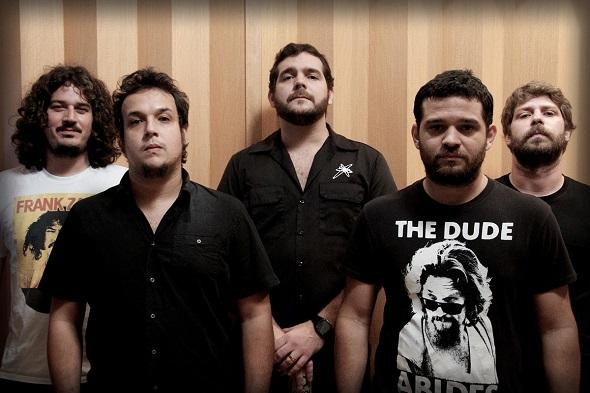 A banda AMP apresenta o novo álbum no show - Crédito: Divulgação da banda