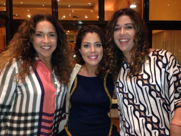 Daniela Mercury, Bella Maia e Malu Verçosa. Crédito: Arquivo pessoal