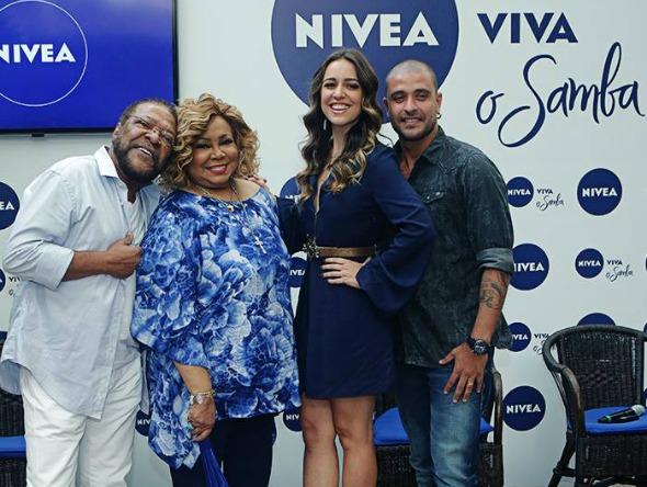 Martinho da Vila, Alcione, Roberta Sá e Diogo Nogueira Crédito: Nívea/Divulgação