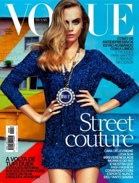 Capa da Vogue estrelada por Cara - Crédito: Vogue/Divulgação