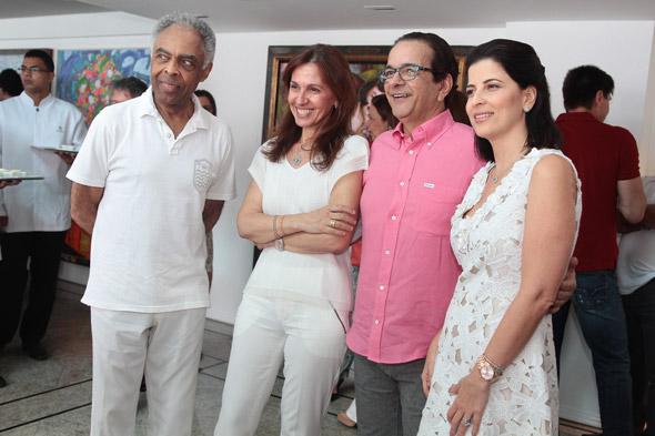 Gilberto Gil e Flora em evento na casa de Antônio Lavareda e Carla Bensoussan -Crédito:Nando Chiappetta/DP/D.A Press