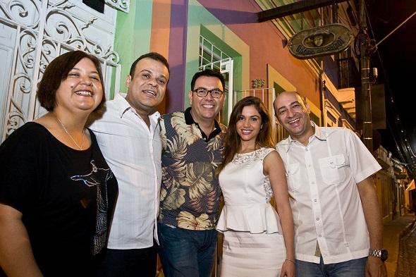 Ana Clara Marinho, Daniel Rolim, Auricélio Romão, Maria Melilo e César Santos -