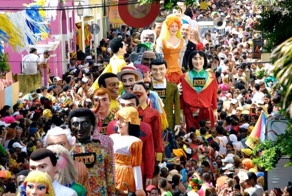 Desfile dos bonecos gigantes de Olinda. Crédito: Inês Campelo/DP/D.A Press