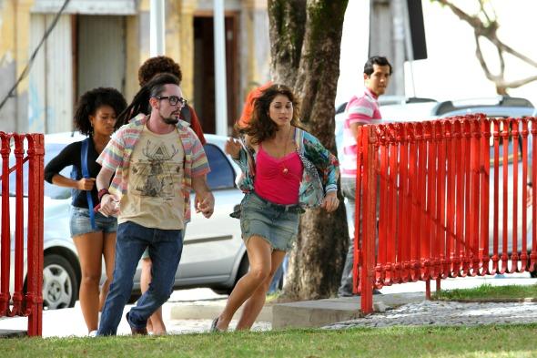 Na foto, Chandelly Braz e gravando imagens da novela Geração Brasil na Praça do Arsenal - Crédito Paulo Paiva/DP/D.A Press