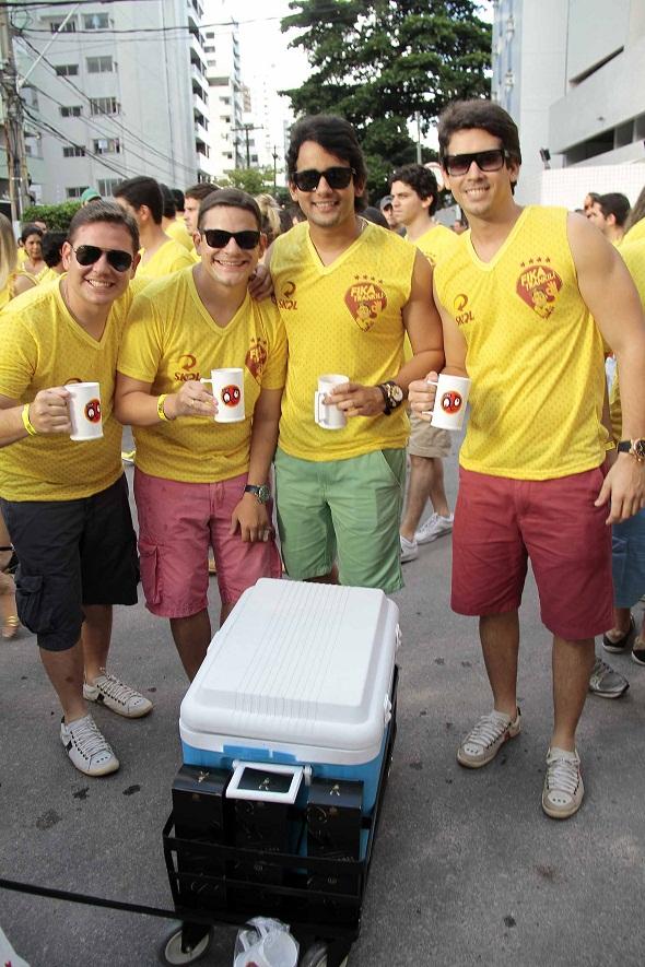 Paulo Labanca e amigos - Crédito: Gleyson Ramos/Divulgação
