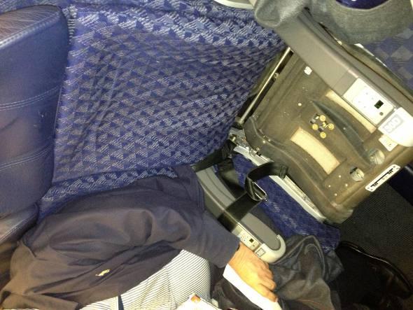 Minha poltrona no avião da American