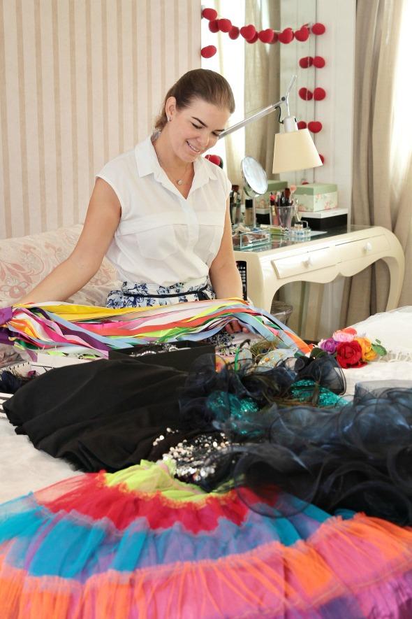 Juliana Lins mostra as suas produções de Carnaval - Crédito: Nando Chiappetta/DP/ D. A Press.