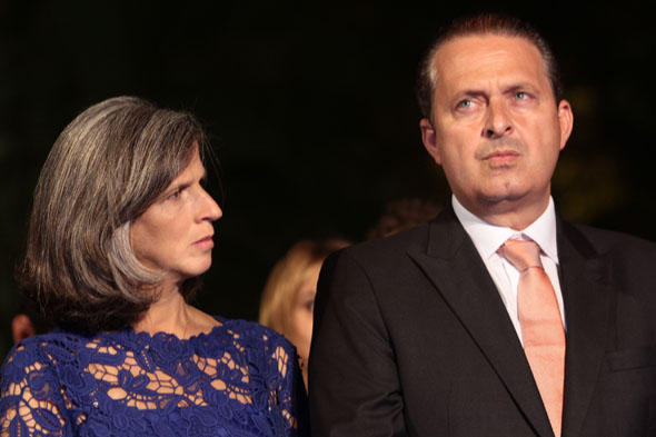 Renata e Eduardo Campos - Crédito: Nando Chiappetta/DP/D.A Press