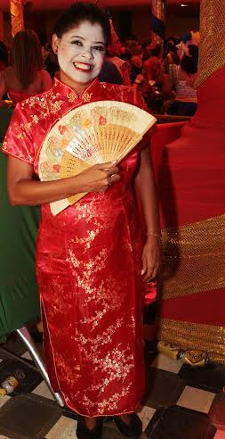 Erilene Alves estava vestida de Chinesa