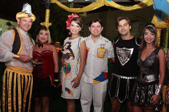 Mário Gil e Dina, Michelle Gil e Vinícius Sombra e Cláudio Gil e Rebeka Borba