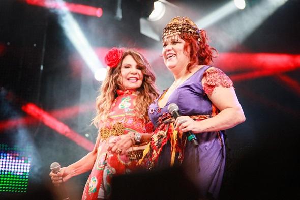 Elba e Nena cantaram juntas  Voltei Recife e o Hino do Elefante de Olinda -  Crédito: Paloma Amorim/Divulgação