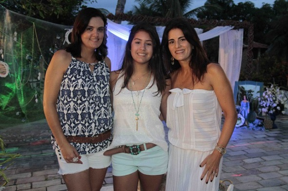 Cacau Pedrosa, Marcela e Gabriela Moury - Crédito: Gleyson Ramos/Divulgação