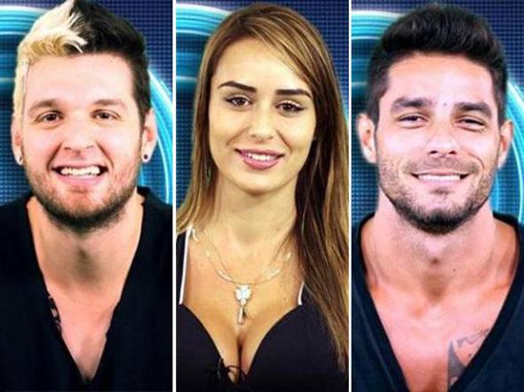 Diego, Letícia e Cássio/TV Globo/Divulgação