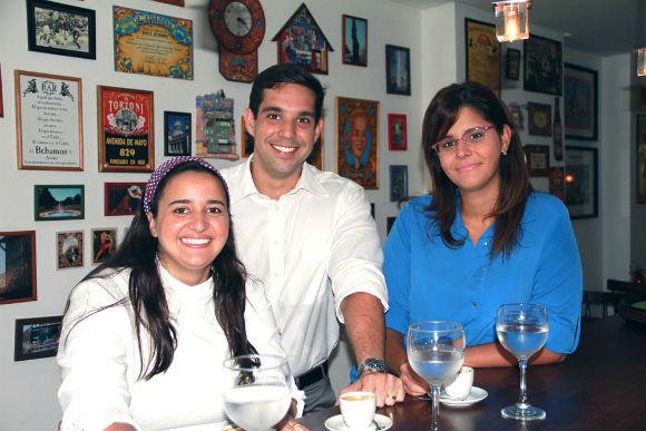 Sofia Mota , Romero e Bruna Oliveira - Crédito: acervo pessoal