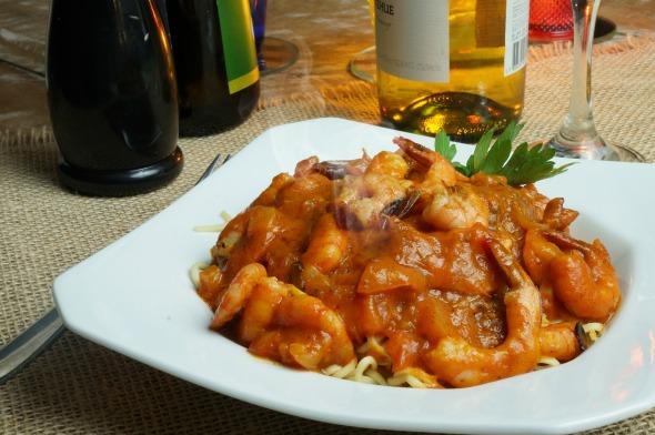 Espaguete Giácomo com camarões - Crédito: Bartolo/Divulgação